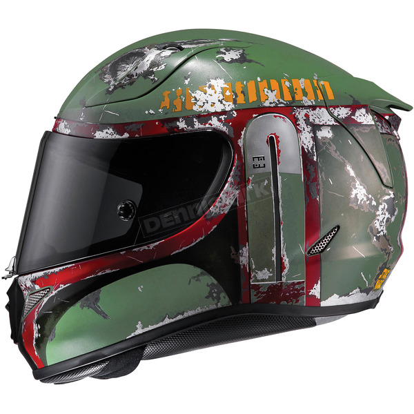 HJC Semi-Flat Green RPHA-11 Pro Star Wars Series Boba Fect MC-4SF Helmet - 1666-746