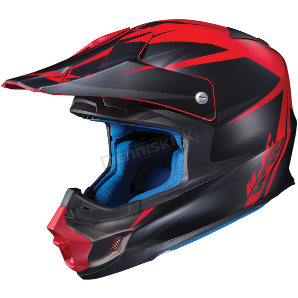 HJC Semi-Flat Black/Red FG-MX Axis MC-1SF Helmet - 360-713