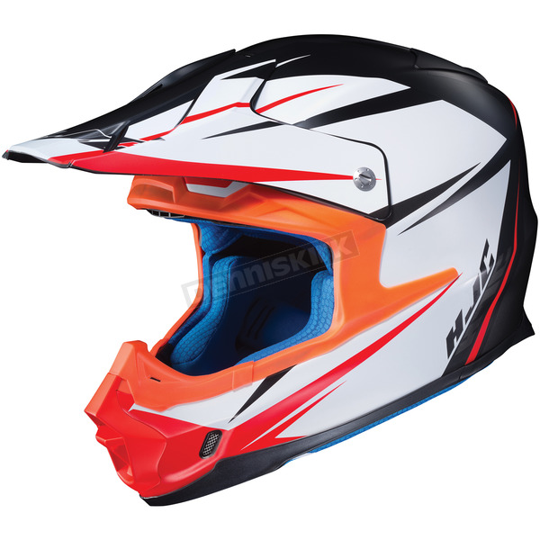 HJC Semi-Flat White/Black FG-MX Axis MC-5SF Helmet - 360-755