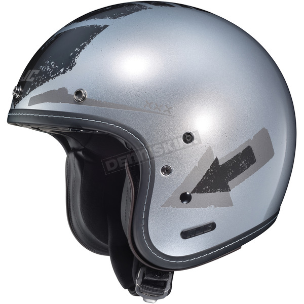 HJC Flat Silver/Black IS-5 Arrow MC-10F Helmet - 436-901