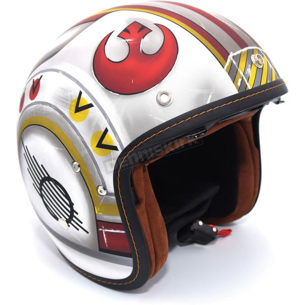 HJC FlatWhite/Red IS-5 X-Wing Fighter Pilot MC-1F Helmet - 438-815