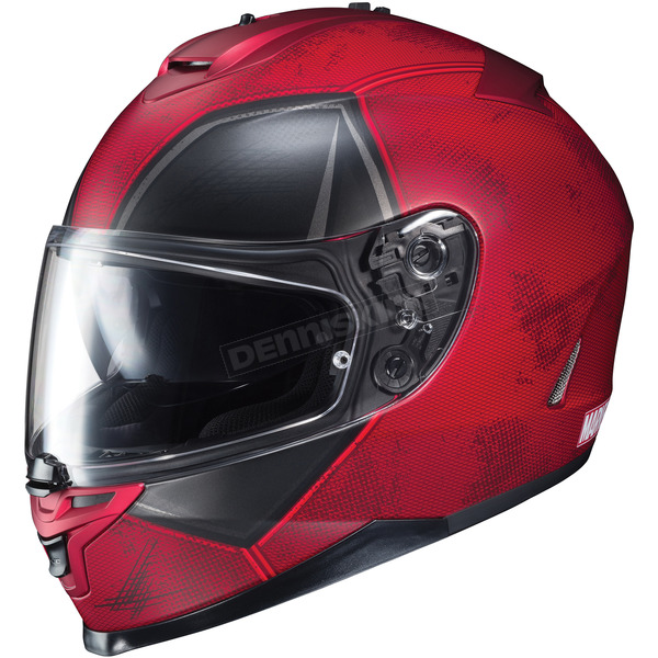 HJC Semi-Flat Red IS-17 Marvel Deadpool MC-1SF Helmet - 598-714