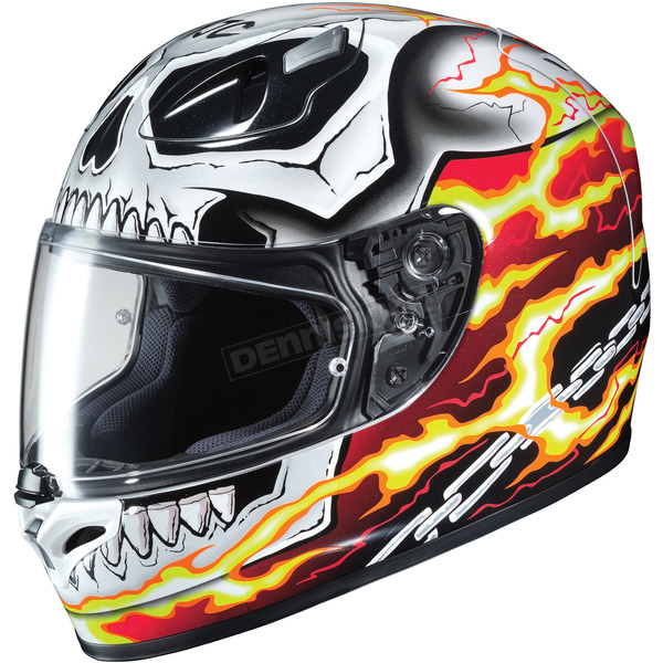 HJC Red/White/Black FG-17 Marvel Ghost Rider MC-1 Helmet - 650-916