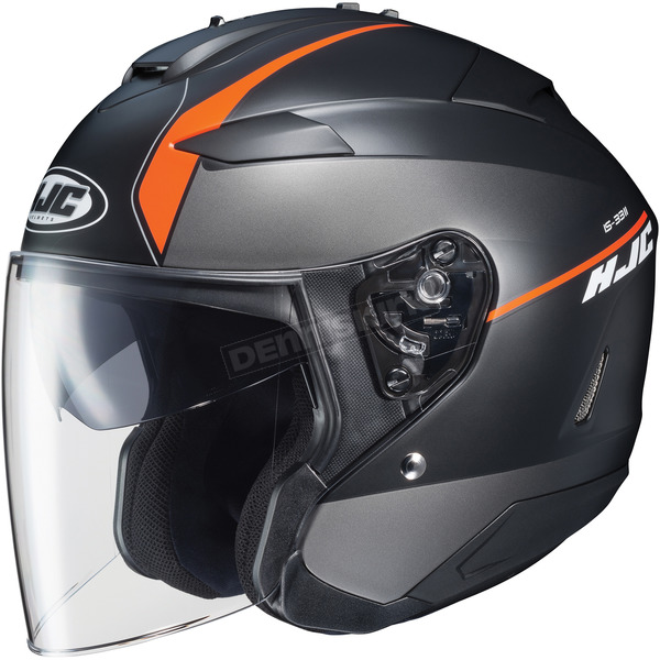 HJC Semi-Flat Anthracite/Black/Orange IS-33 II Niro MC-7SF Helmet - 876-772
