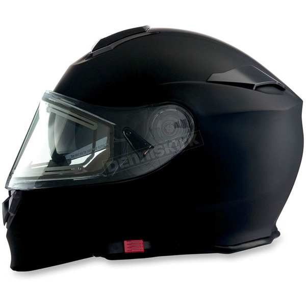 Z1R Flat Black Solaris Modular Helmet w/Electric Face Shield - 0120-0450