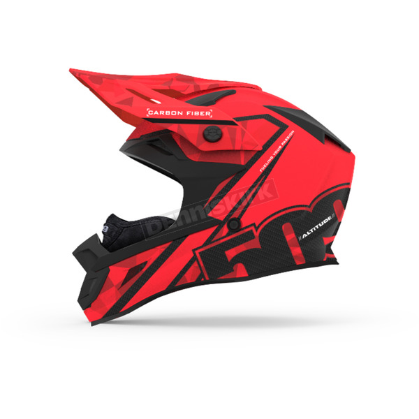 509 Red Altitude Carbon Fiber Helmet w/Fidlock Technology - 509-HEL-ACR-XL