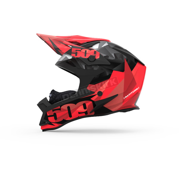 509 Red Triangles Altitude Helmet w/Fidlock Technology - 509-HEL-ART-SM