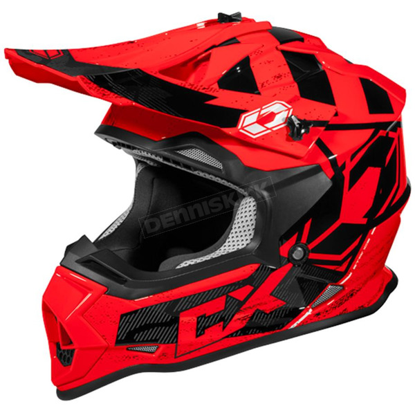 Castle X Red Mode MX Stance Helmet - 35-2019T