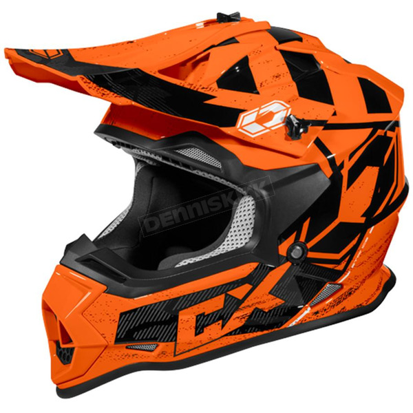 Castle X Flo Orange Mode MX Stance Helmet - 35-2069T