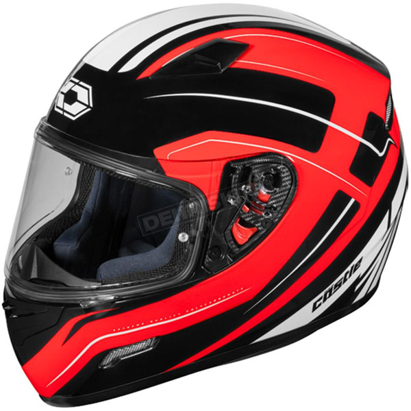 Castle X Red Mugello Maker Helmet - 36-0319