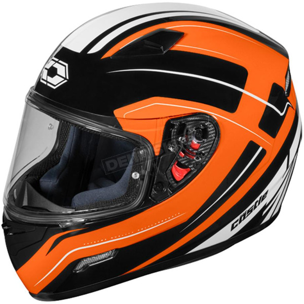 Castle X Flo Orange Mugello Maker Helmet - 36-0362