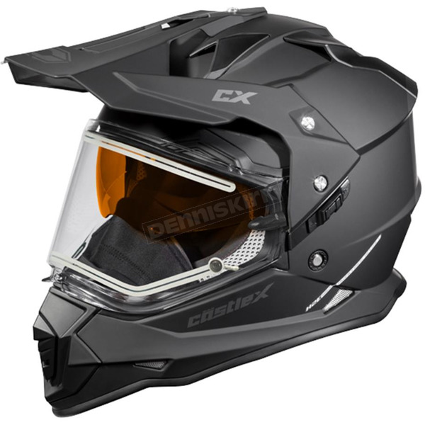 Castle X Matte Black Mode Dual-Sport SV Snow Helmet w/Electric Shield - 35-23582