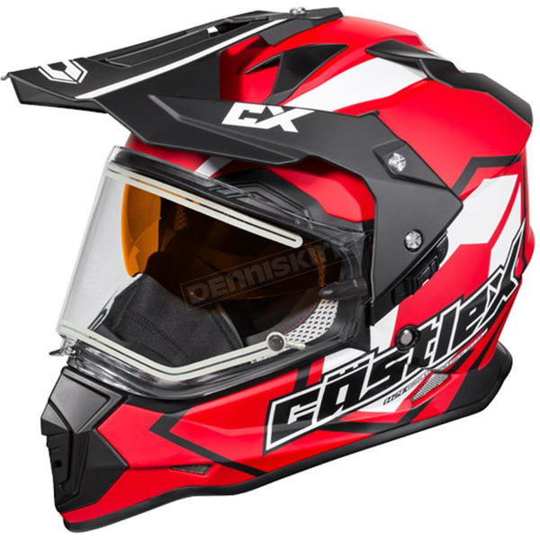 Castle X Red Mode Dual-Sport SV Team Snow Helmet w/Electric Shield - 35-23714