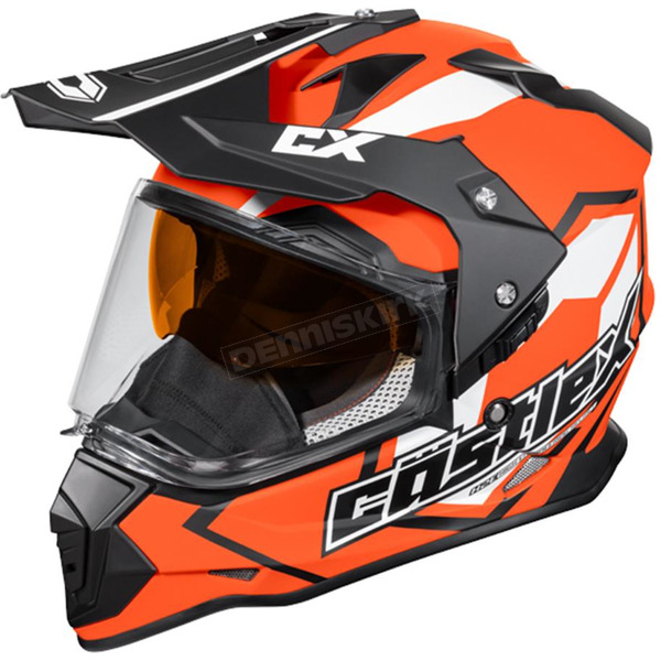 Castle X Flo Orange Mode Dual-Sport SV Team Snow Helmet - 35-13764