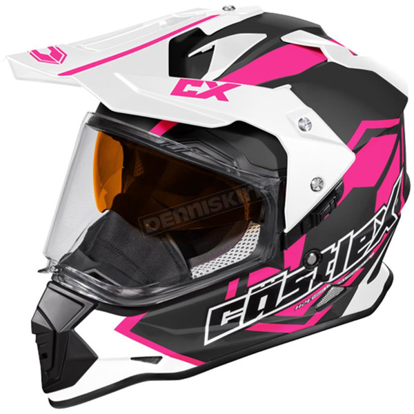 Castle X Pink Mode Dual-Sport SV Team Snow Helmet - 35-13781