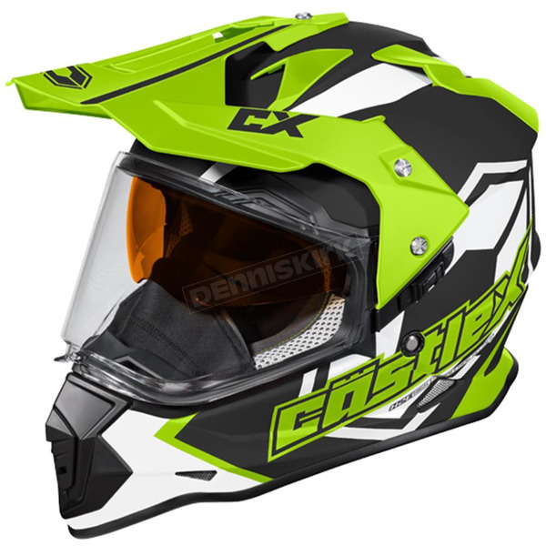Castle X Hi-Vis Mode Dual-Sport SV Team Snow Helmet w/Electric Shield - 35-23732