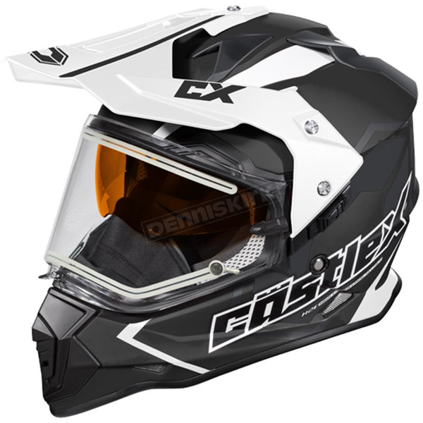 Castle X Black Mode Dual-Sport SV Team Snow Helmet w/Electric Shield - 35-23752