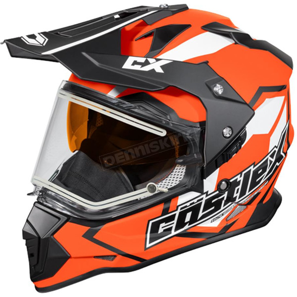 Castle X Flo Orange Mode Dual-Sport SV Team Snow Helmet w/Electric Shield - 35-23766
