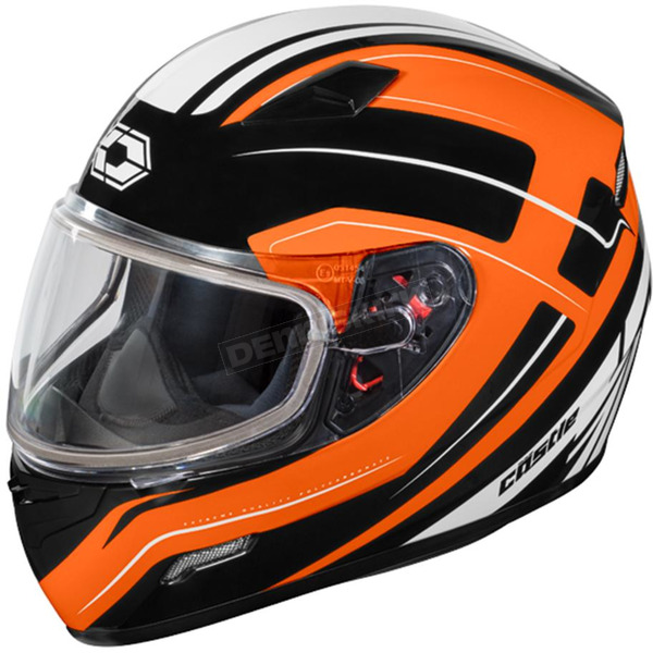 Castle X Flo Orange Mugello Maker Snow Helmet - 36-10362