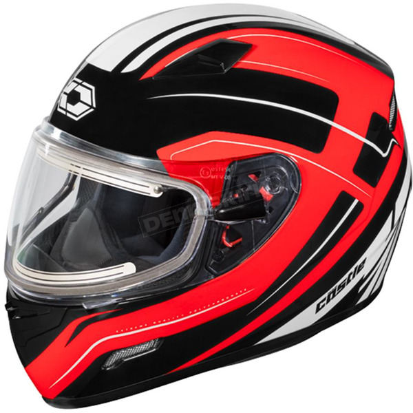 Castle X Red Mugello Maker Snow Helmet w/Electric Shield - 36-20318