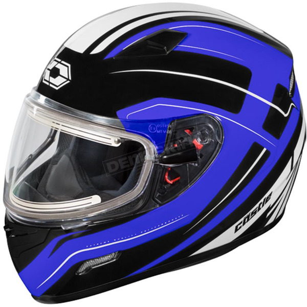 Castle X Blue Mugello Maker  Snow Helmet w/Electric Shield - 36-20328