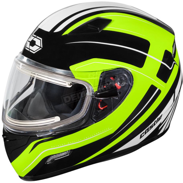 Castle X Hi-Vis Mugello Maker Snow Helmet w/Electric Shield - 36-20339