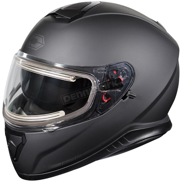Castle X Matte Black Thunder 3 SV Snow Helmet w/Electric Shield - 36-21282