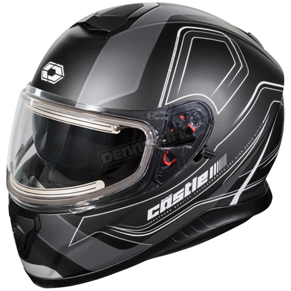 Castle X Matte Black Thunder 3 SV Trace Snow Helmet w/Electric Shield - 36-21452