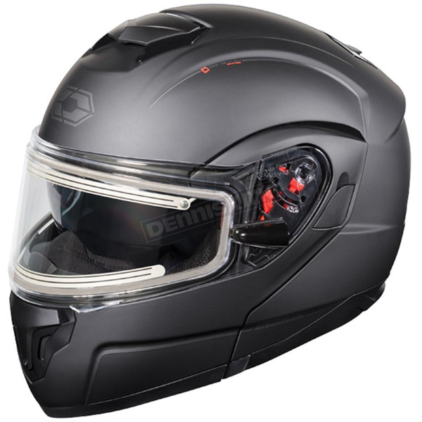 Castle X Matte Black Atom SV  Modular Snow Helmet w/Electric Shield - 36-23084