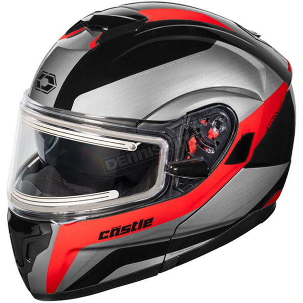 Castle X Red Atom SV Tarmac  Modular Snow Helmet w/Electric Shield - 36-23318