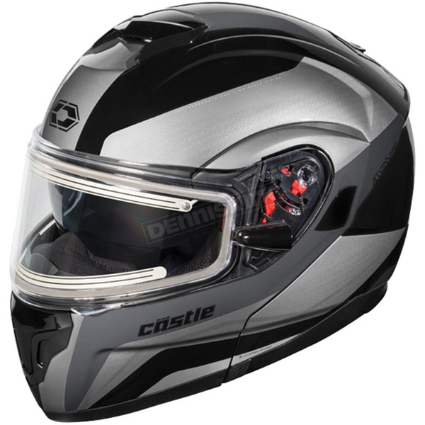 Castle X Black Atom SV Tarmac Modular Snow Helmet w/Electric Shield - 36-23354