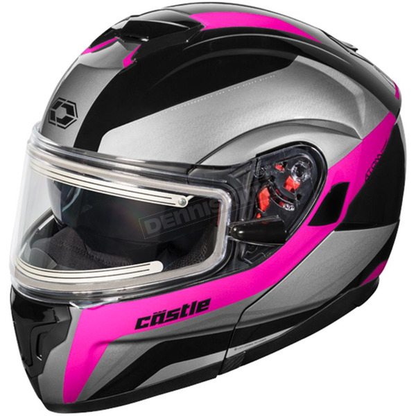 Castle X Pink Atom SV Tarmac Modular Snow Helmet w/Electric Shield - 36-23381