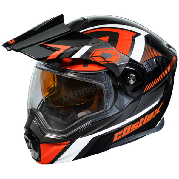 Castle X Black/Red EXO-CX950 Slash Snow Helmet - 45-19219T