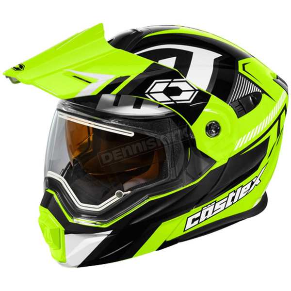 Castle X Hi-Vis/Black EXO-CX950 Slash Snow Helmet w/Electric Shield - 45-29238