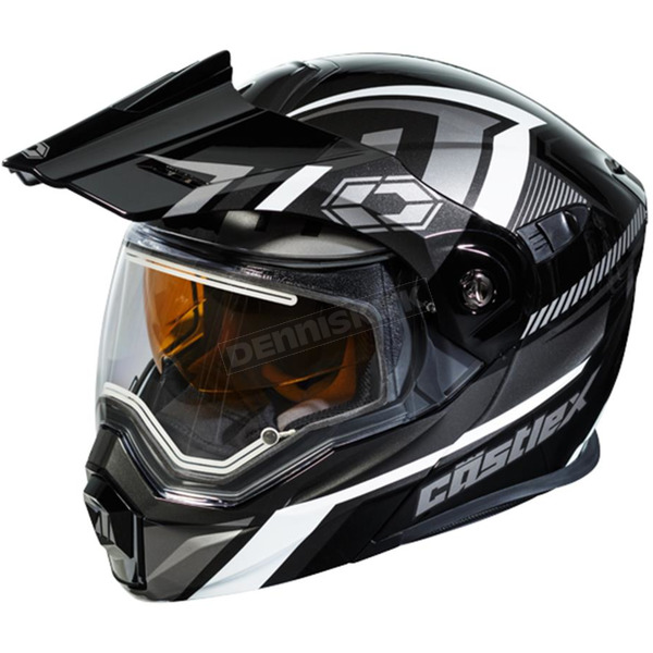 Castle X Black/Gray EXO-CX950 Slash Snow Helmet w/Electric Shield - 45-29259T