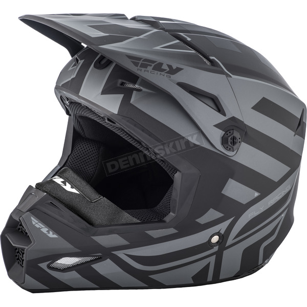 Fly Racing Matte Black/Gray Enterlace Elite Cold Weather Helmet - 73-4940-9-2X