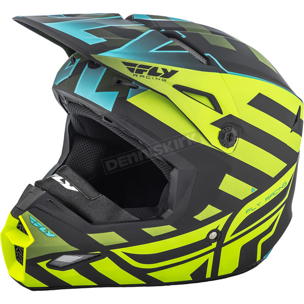 Fly Racing Black/Hi-Vis Interlace Elite Cold Weather Helmet - 73-4941-7-L