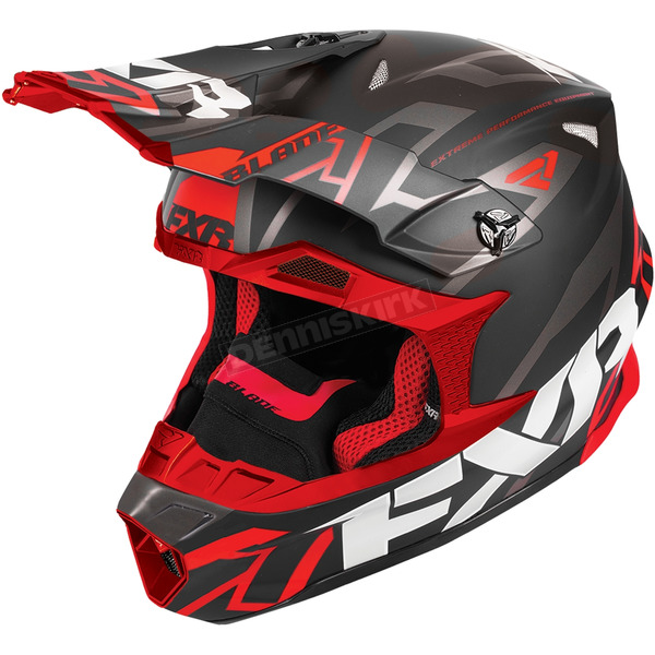 FXR Racing Black/Red Blade Vertical Helmet - 180602-1020-19