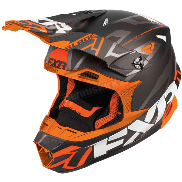 FXR Racing Black/Orange Blade Vertical Helmet - 180602-1030-16