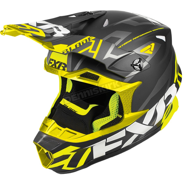 FXR Racing Black/Hi-Vis Blade Vertical Helmet - 180602-1065-07