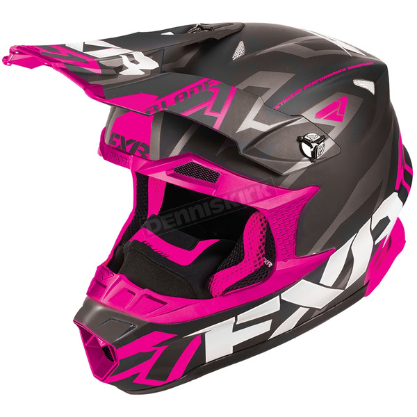 FXR Racing Black/Fuchsia Blade Vertical Helmet - 180602-1090-19