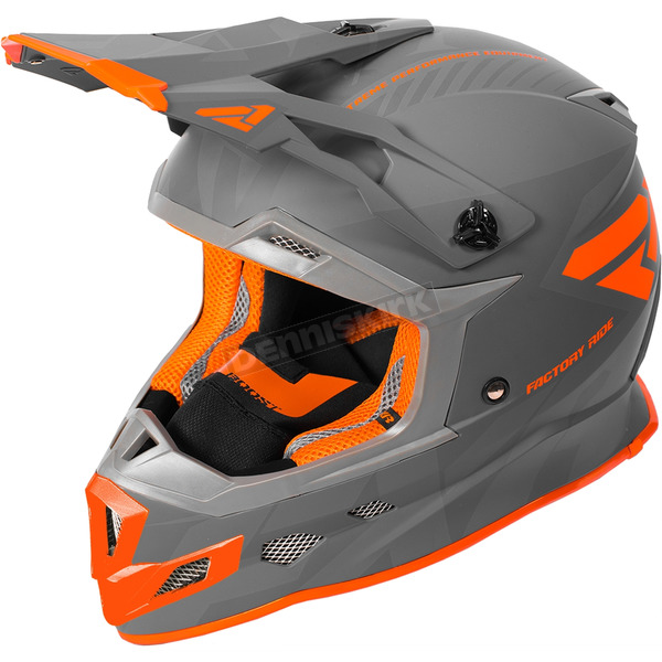FXR Racing Charcoal/Gray/Orange Boost CX Prime Helmet - 180607-0805-16