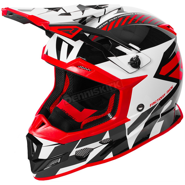 FXR Racing Red/White/Black Boost CX Prime Helmet - 180607-2001-04