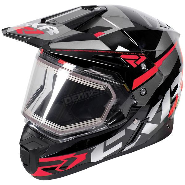 FXR Racing Black/Red/Charcoal FX-1 Team Helmet w/Electric Shield - 180609-1020-10
