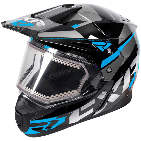 FXR Racing Black/Blue/Charcoal FX-1 Team Helmet w/Electric Shield - 180609-1040-07