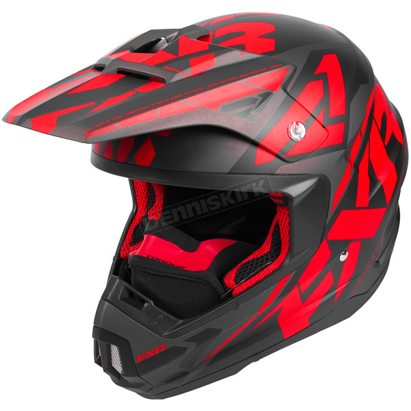 FXR Racing Black/Red/Charcoal Torque Core Helmet - 180621-1020-19