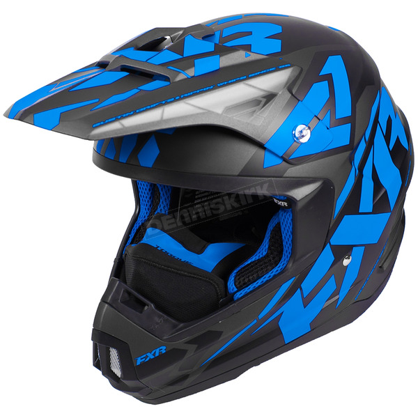 FXR Racing Black/Blue/Charcoal Torque Core Helmet - 180621-1040-10