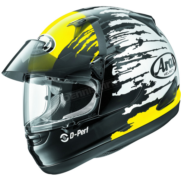 Arai Helmets Yellow/Black/White Signet-Q Pro-Tour Splash Helmet - 807362