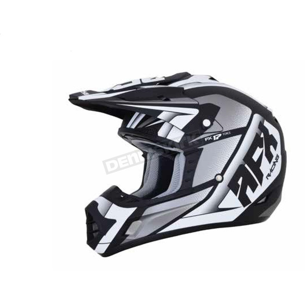 AFX Matte Black/White FX-17 Force Helmet - 0110-5201
