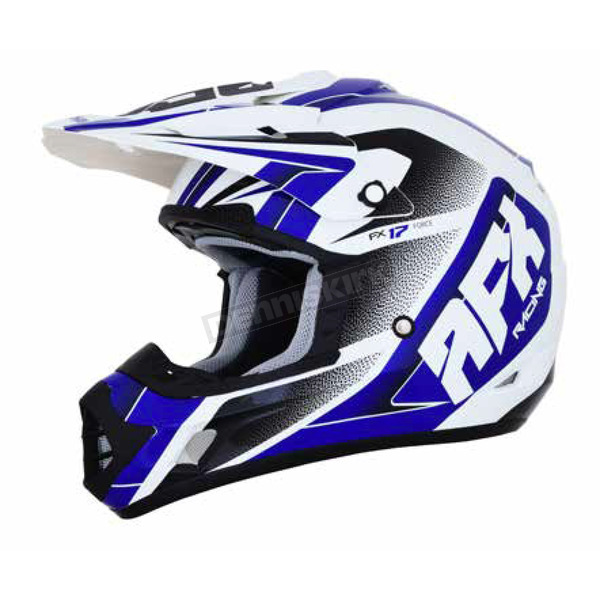 AFX Pearl White/Blue FX-17 Force Helmet - 0110-5238